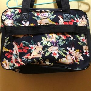 Alfagear Pinup Girl Patterned Travel Tote 3/$30